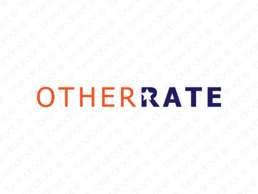 Otherrate logo design included with business name and domain name, Otherrate.com.