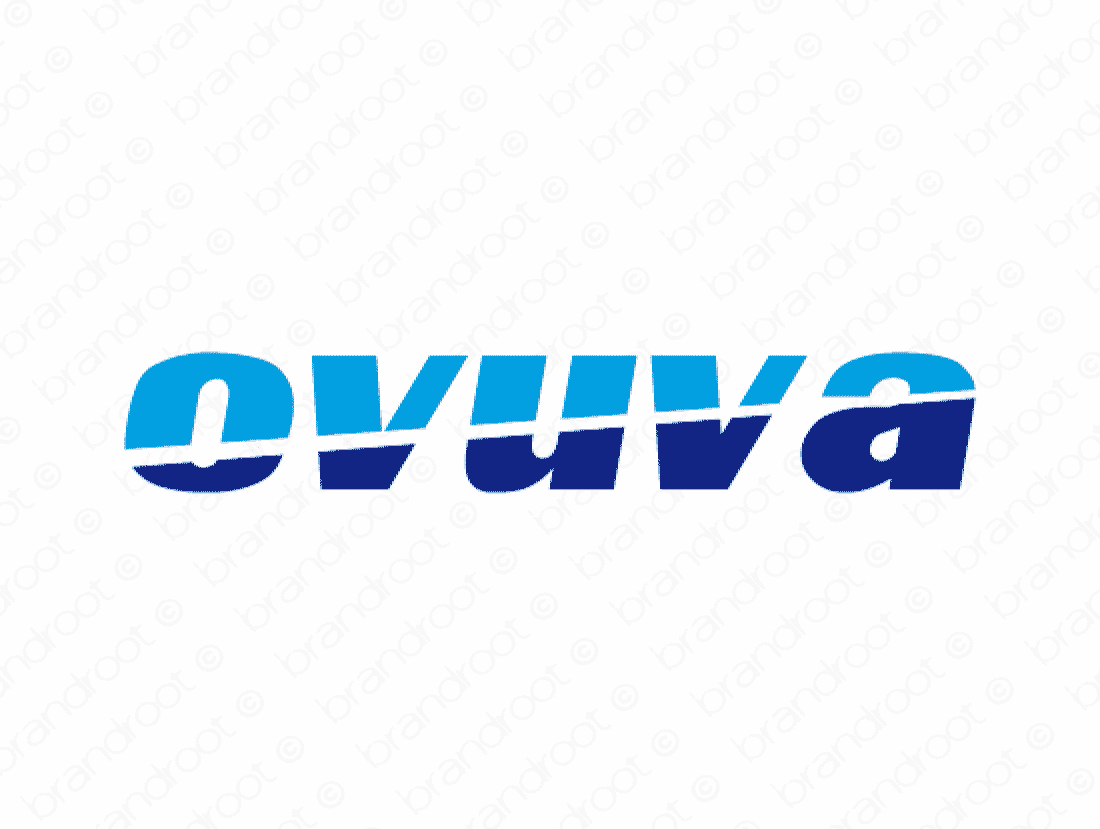 Ovuva logo design included with business name and domain name, Ovuva.com.