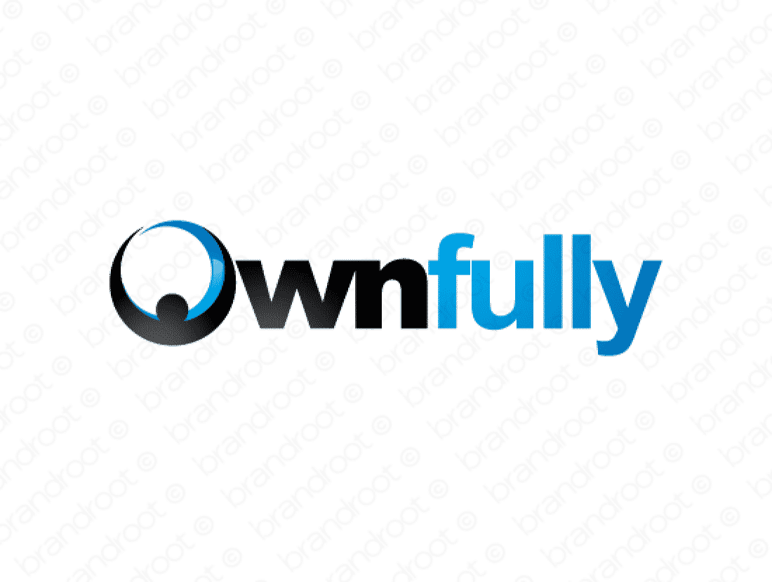 Ownfully logo design included with business name and domain name, Ownfully.com.