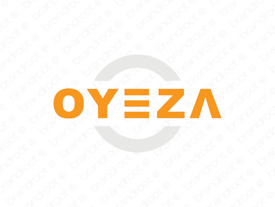 Oyeza logo design included with business name and domain name, Oyeza.com.