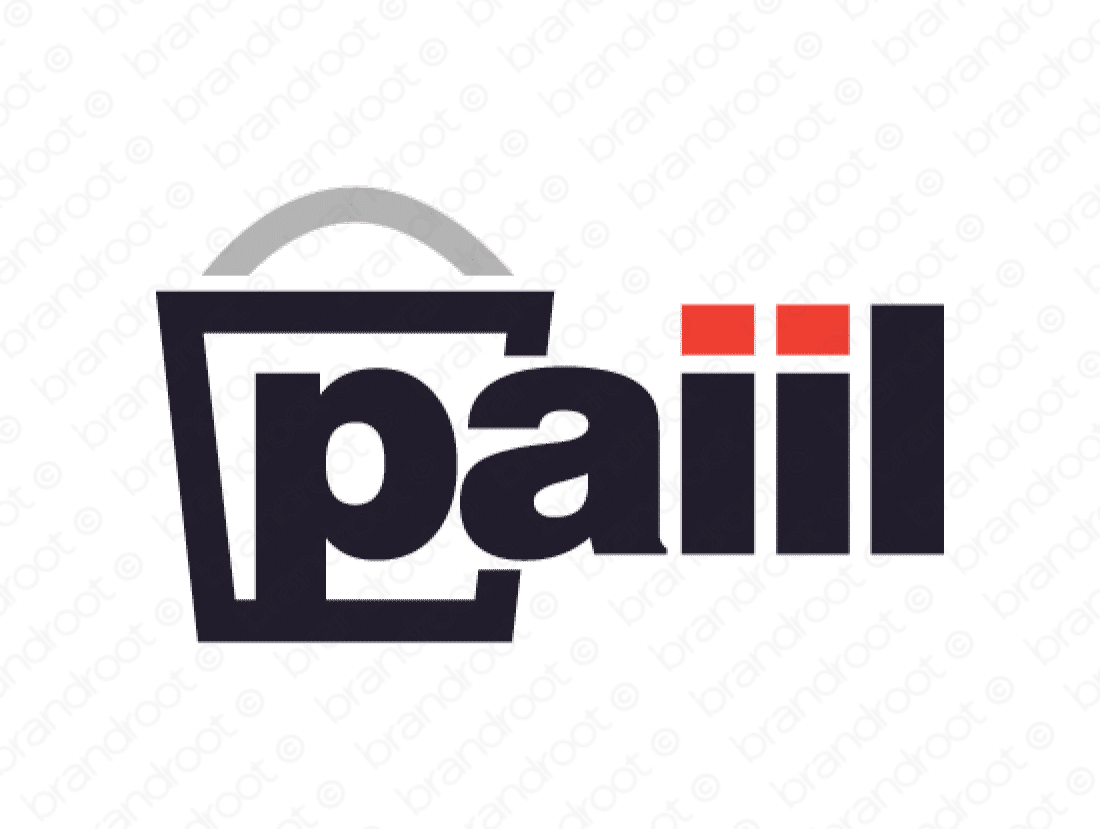 Paiil logo design included with business name and domain name, Paiil.com.