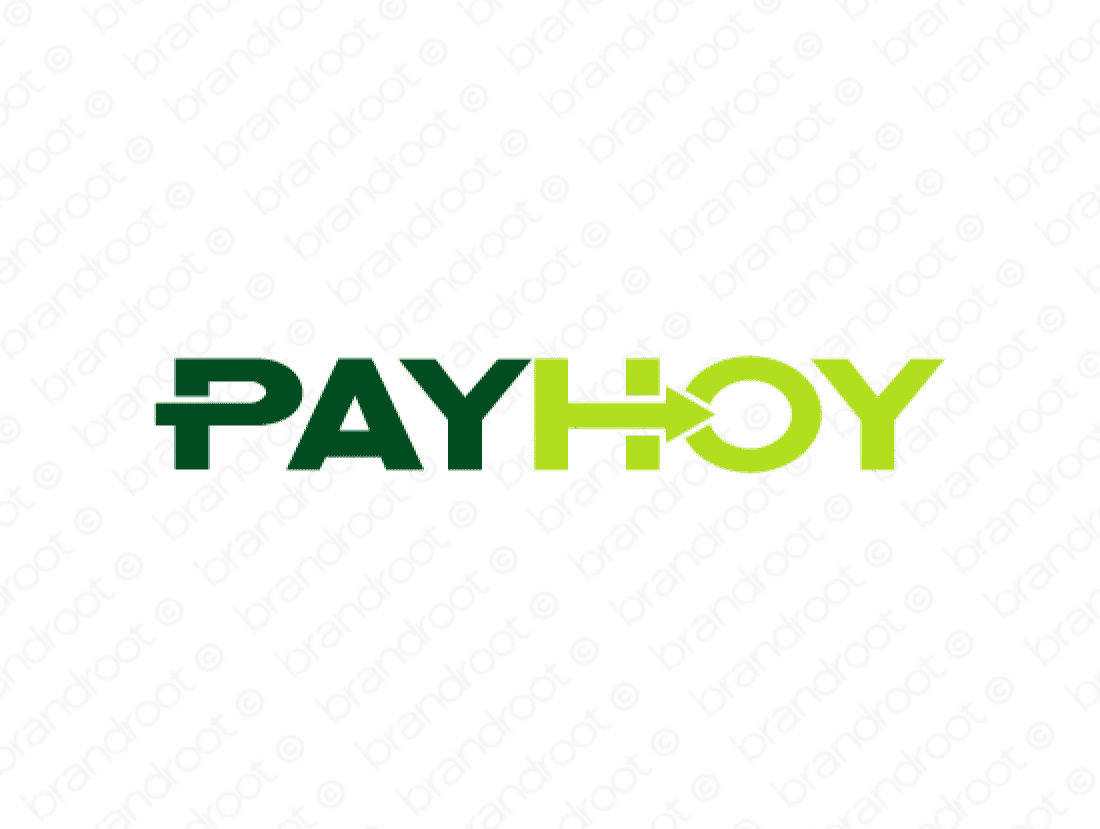 Payhoy logo design included with business name and domain name, Payhoy.com.