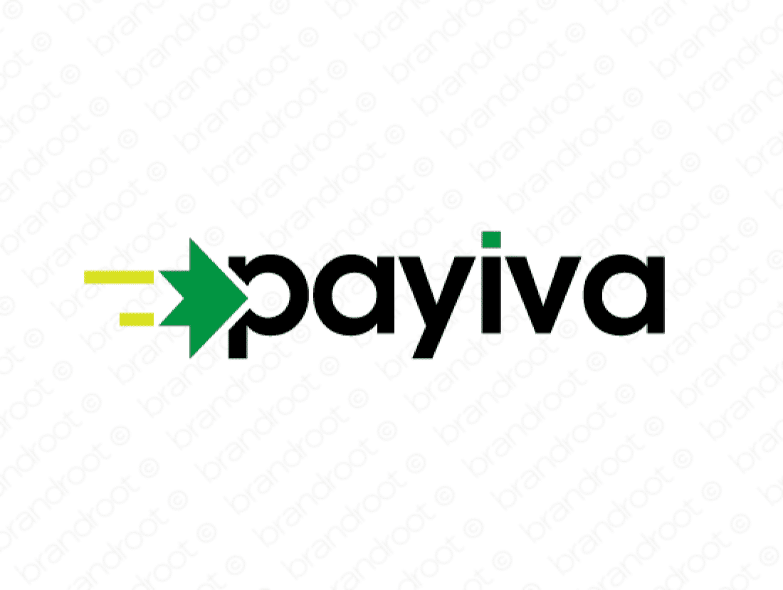 Payiva logo design included with business name and domain name, Payiva.com.