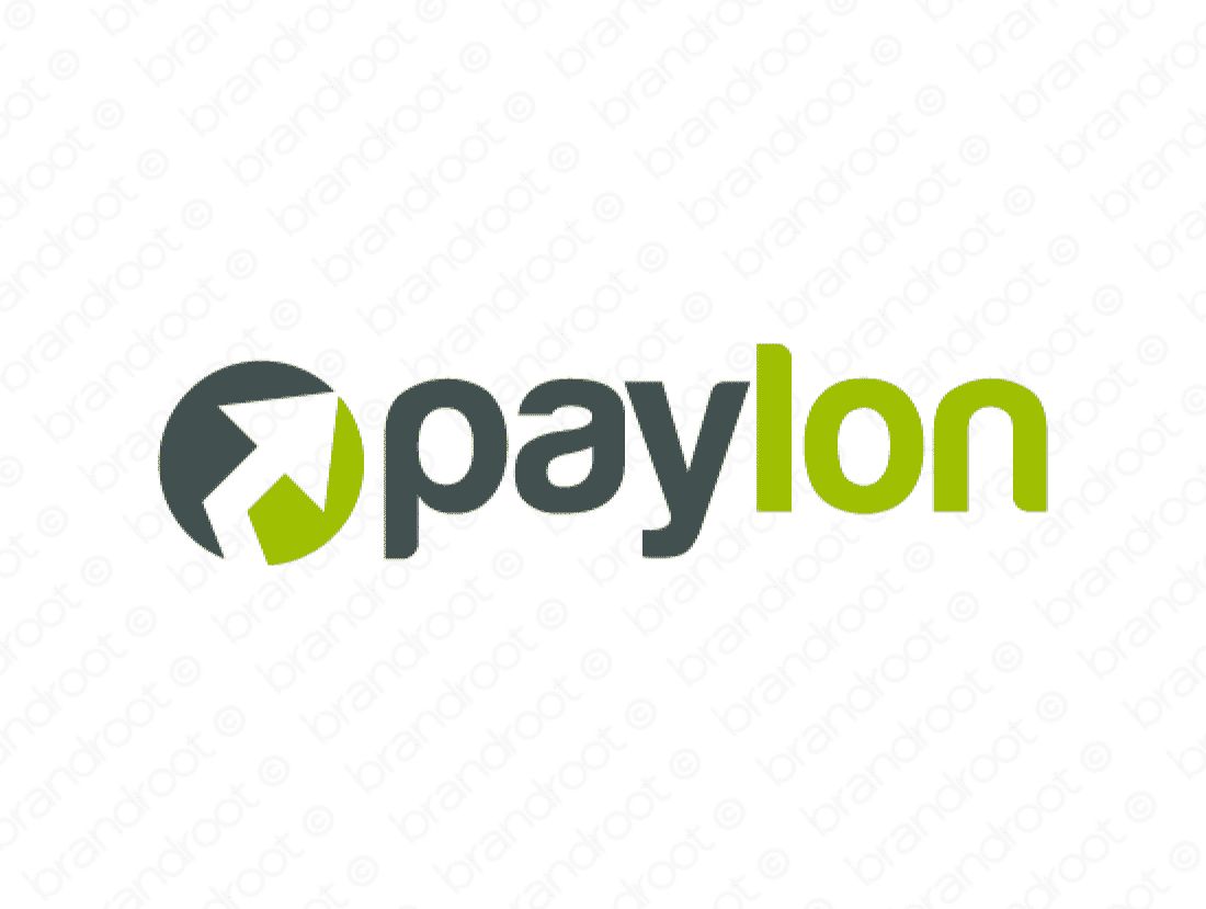 Paylon logo design included with business name and domain name, Paylon.com.
