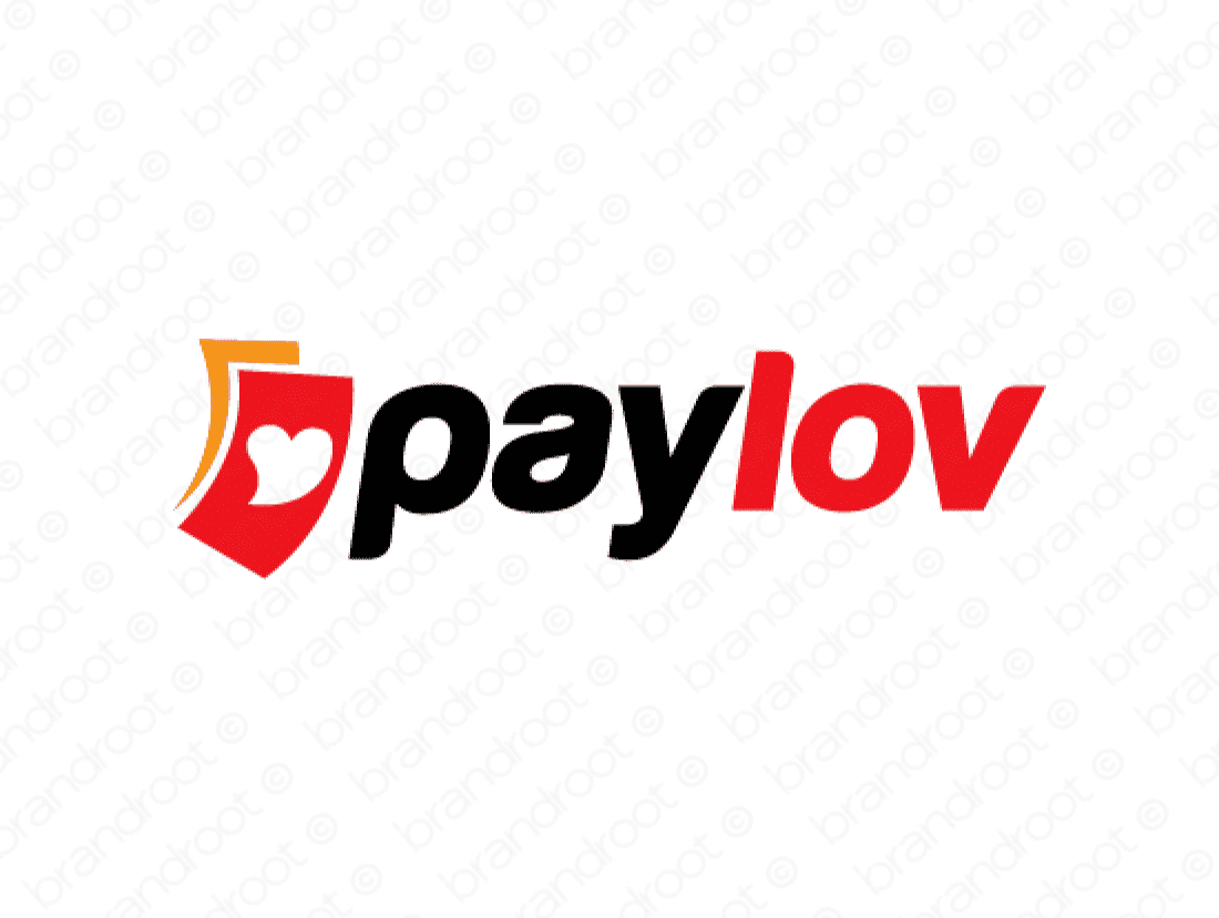 Paylov logo design included with business name and domain name, Paylov.com.