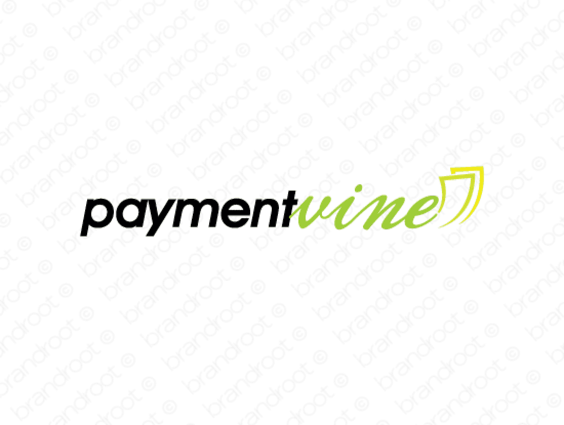 Paymentvine logo design included with business name and domain name, Paymentvine.com.