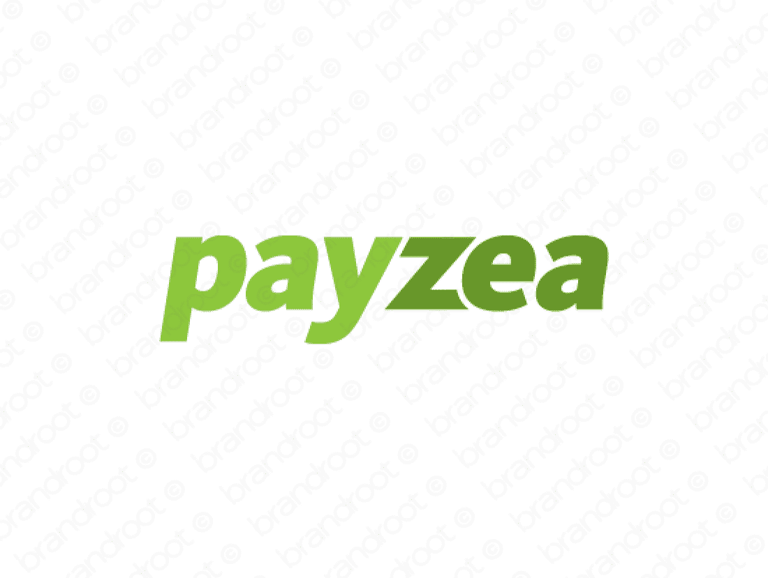 Payzea logo design included with business name and domain name, Payzea.com.