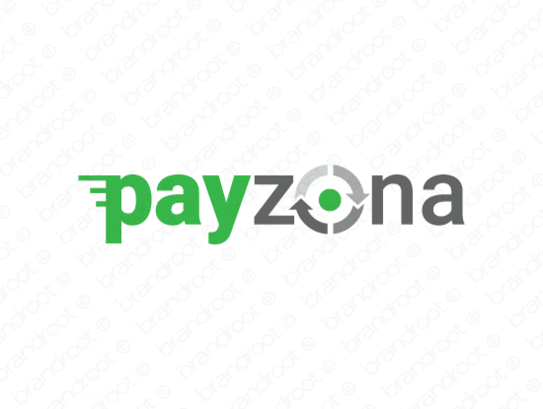 Payzona logo design included with business name and domain name, Payzona.com.