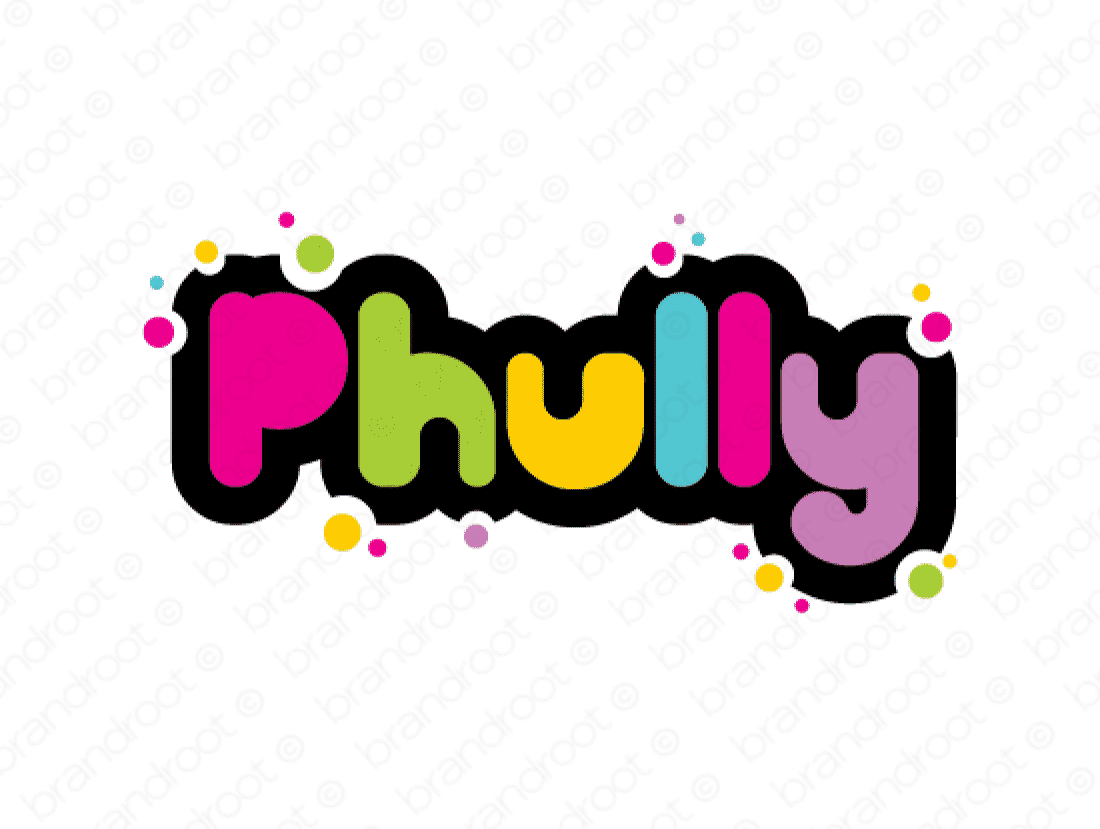 Phully logo design included with business name and domain name, Phully.com.