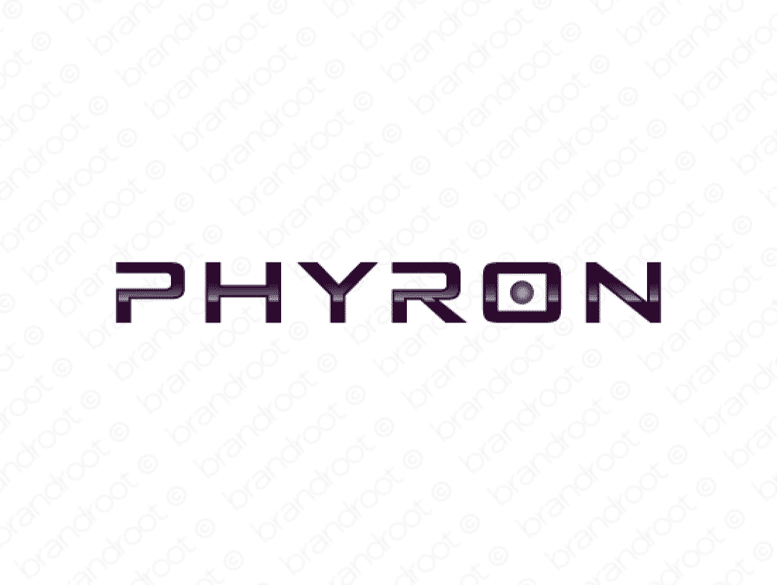 Phyron logo design included with business name and domain name, Phyron.com.
