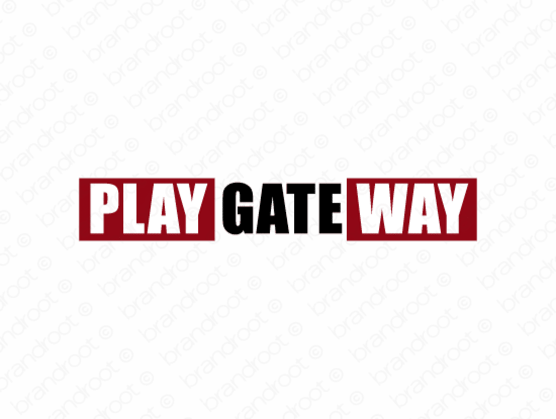 Playgateway logo design included with business name and domain name, Playgateway.com.