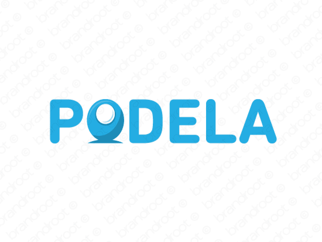 Podela logo design included with business name and domain name, Podela.com.