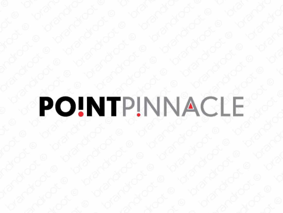 Pointpinnacle logo design included with business name and domain name, Pointpinnacle.com.