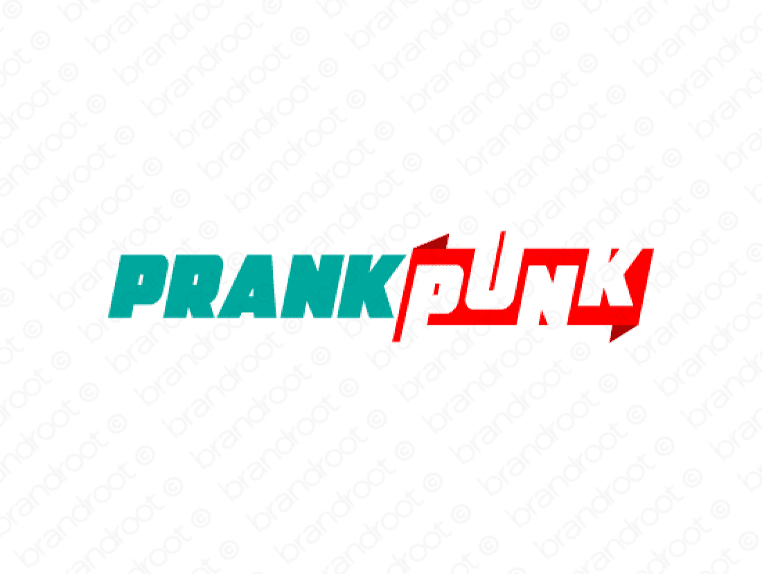 Prankpunk logo design included with business name and domain name, Prankpunk.com.