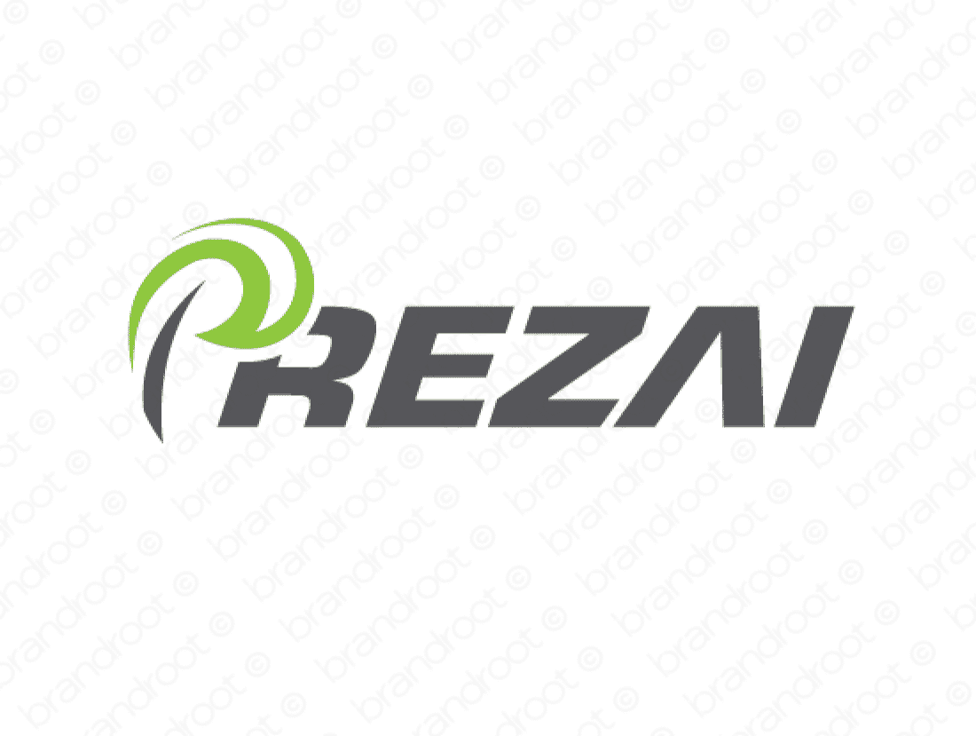 Prezai logo design included with business name and domain name, Prezai.com.
