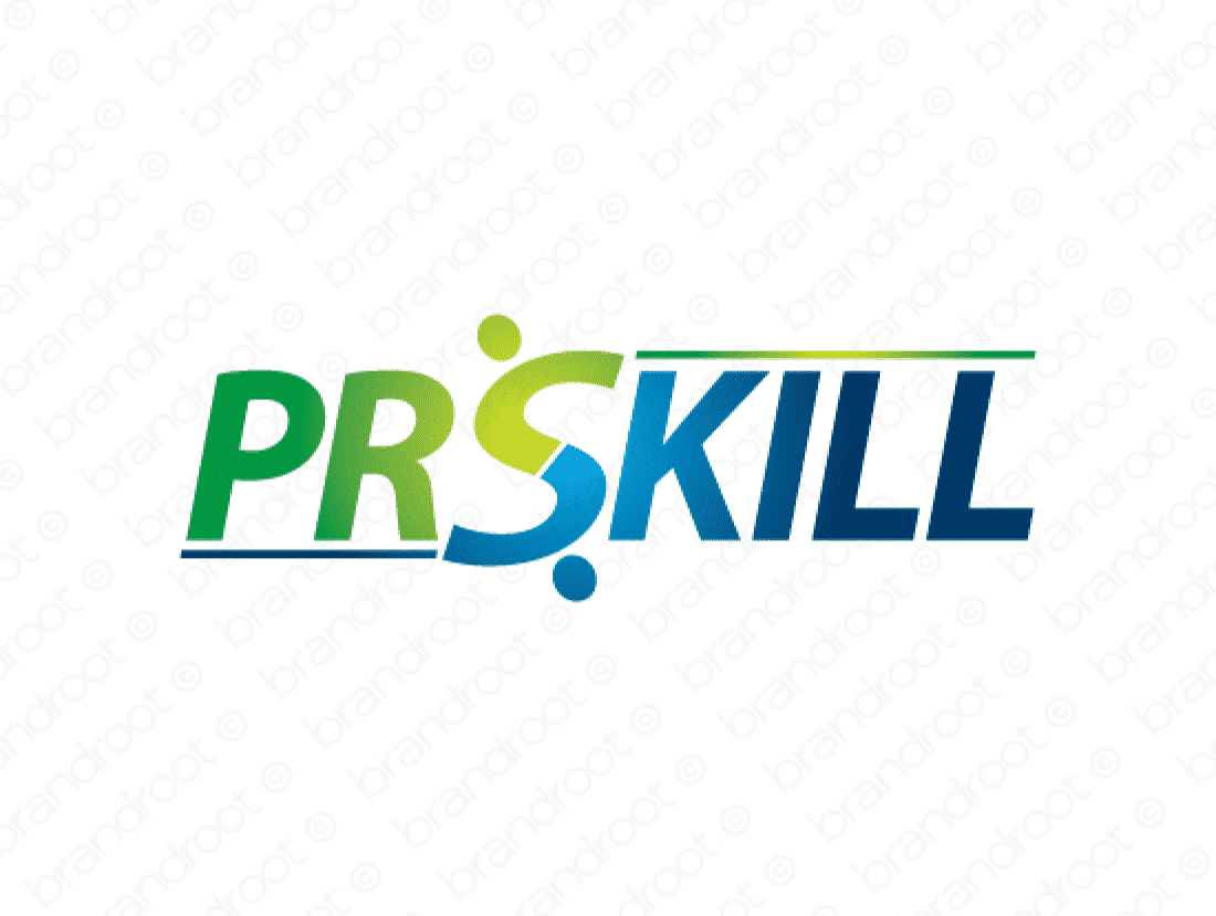 Prskill logo design included with business name and domain name, Prskill.com.