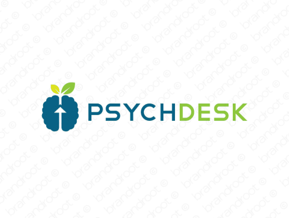 Psychdesk logo design included with business name and domain name, Psychdesk.com.