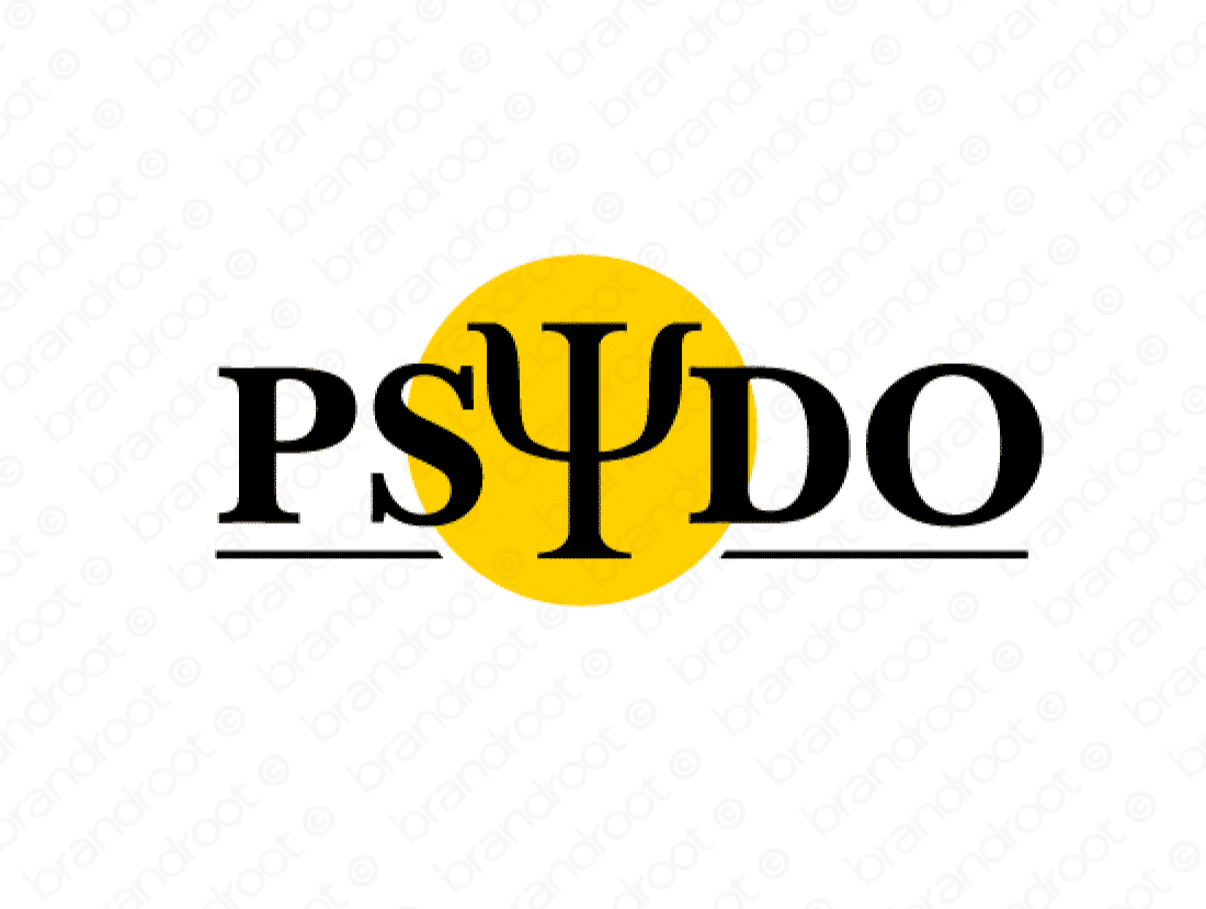Psydo logo design included with business name and domain name, Psydo.com.