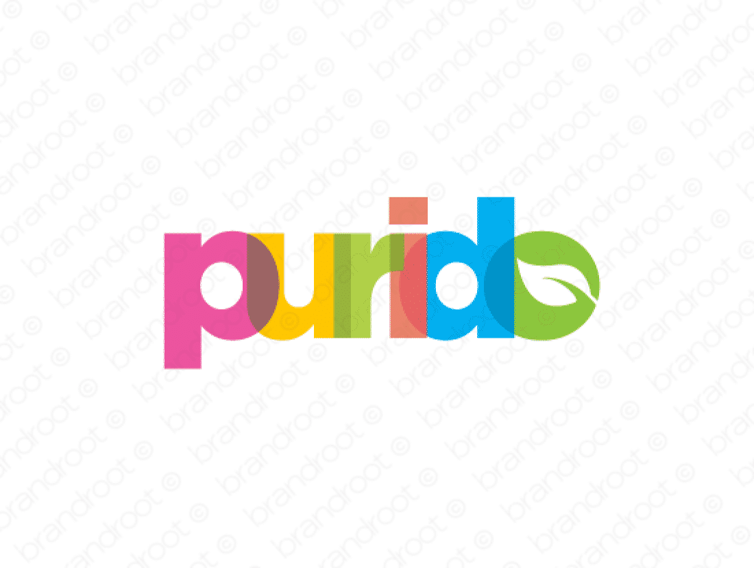 Purido logo design included with business name and domain name, Purido.com.
