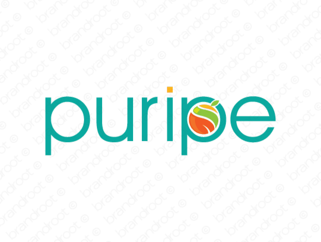 Puripe logo design included with business name and domain name, Puripe.com.