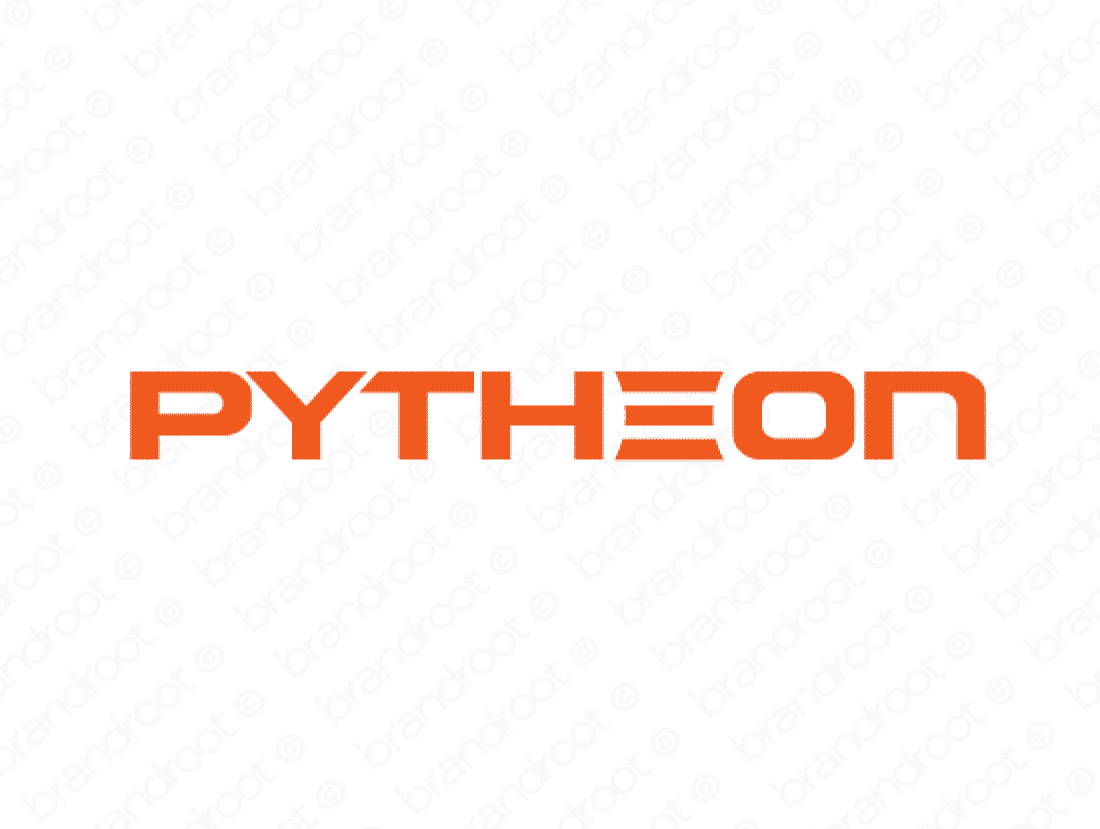 Pytheon logo design included with business name and domain name, Pytheon.com.