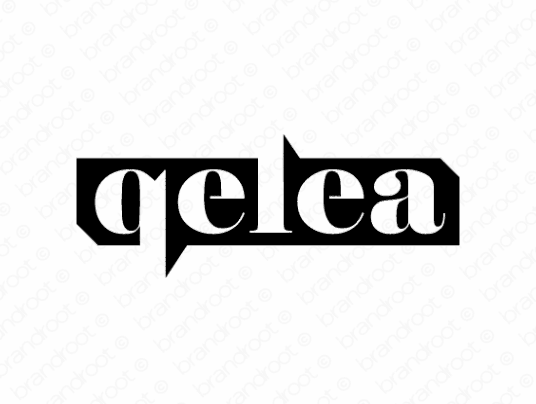Qelea logo design included with business name and domain name, Qelea.com.
