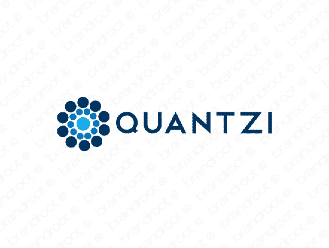Quantzi logo design included with business name and domain name, Quantzi.com.