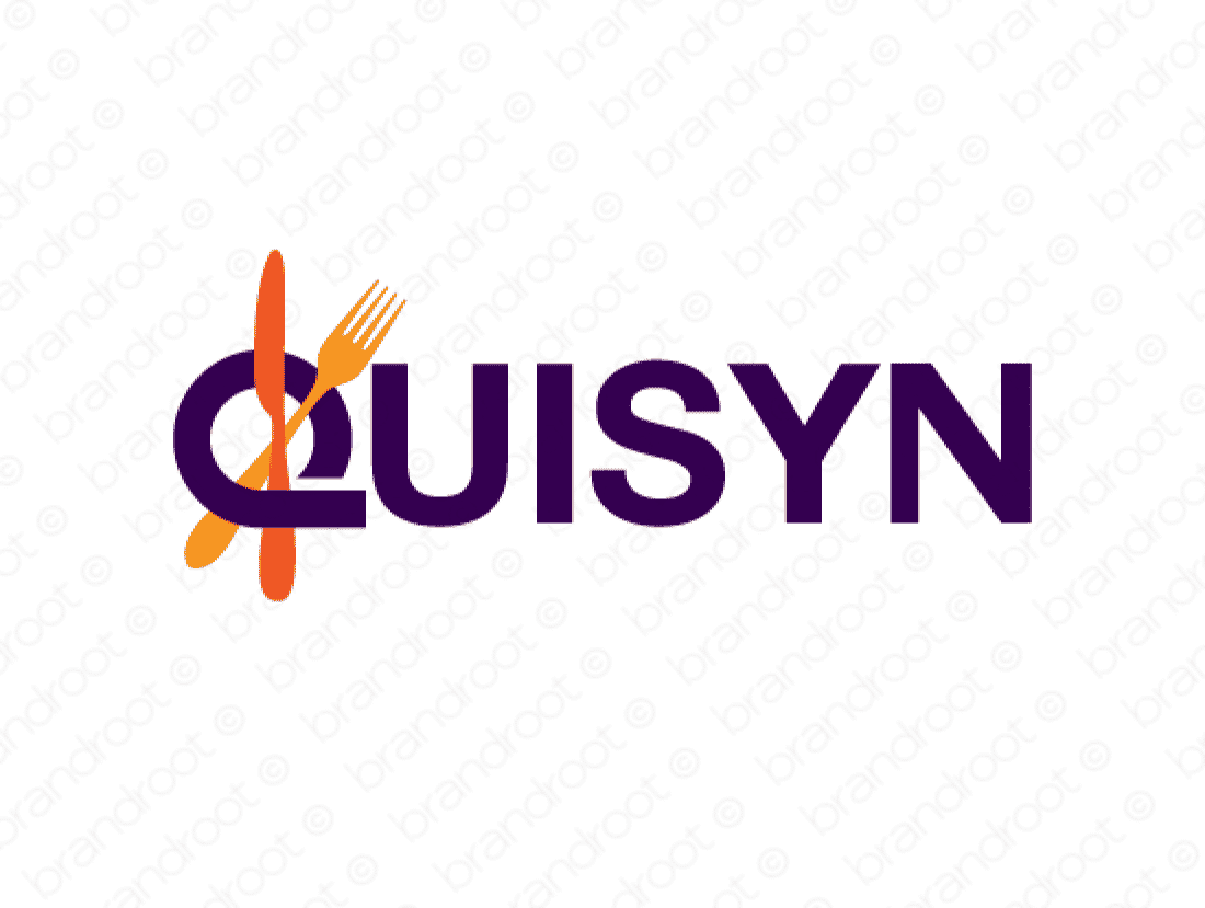 Quisyn logo design included with business name and domain name, Quisyn.com.