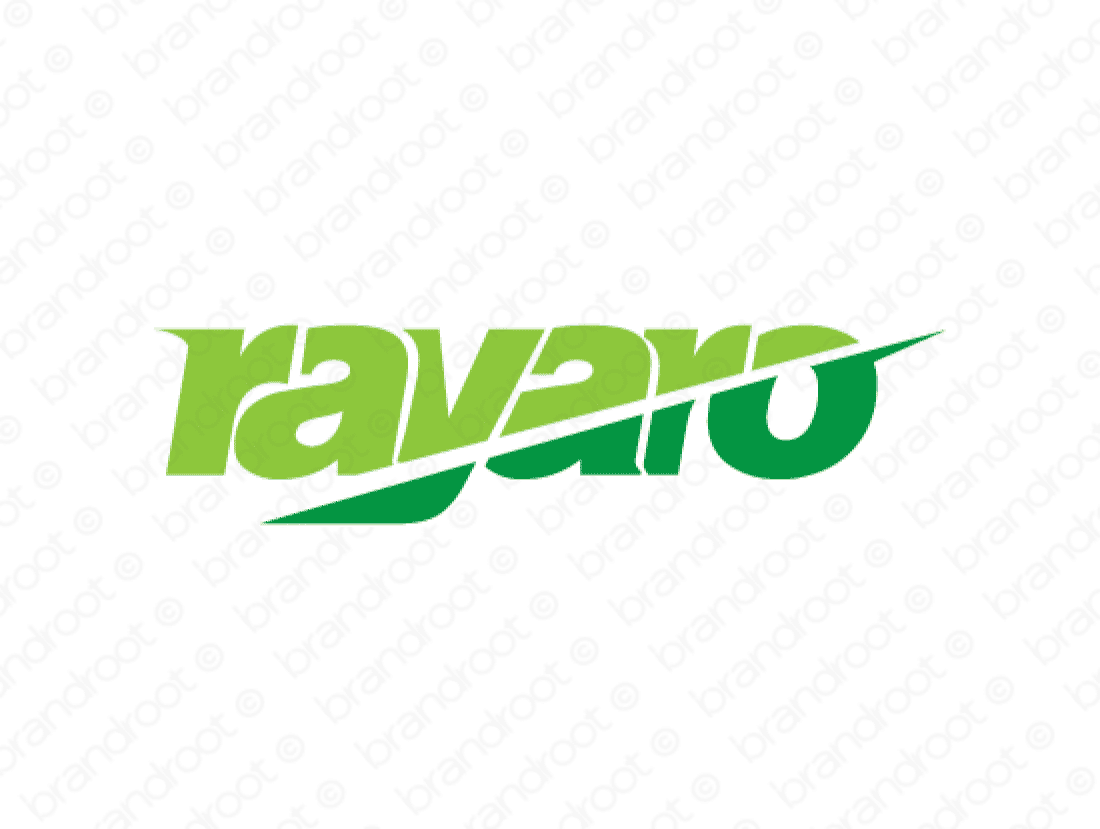 Rayaro logo design included with business name and domain name, Rayaro.com.