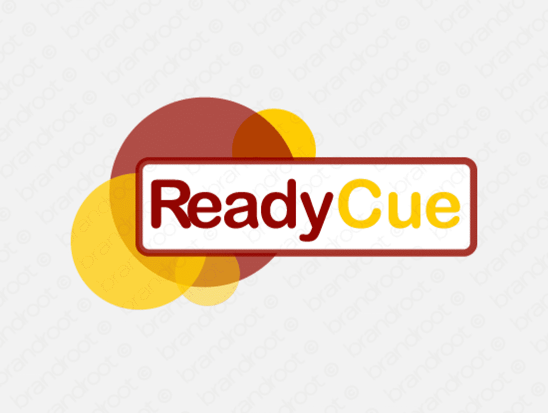 Readycue logo design included with business name and domain name, Readycue.com.