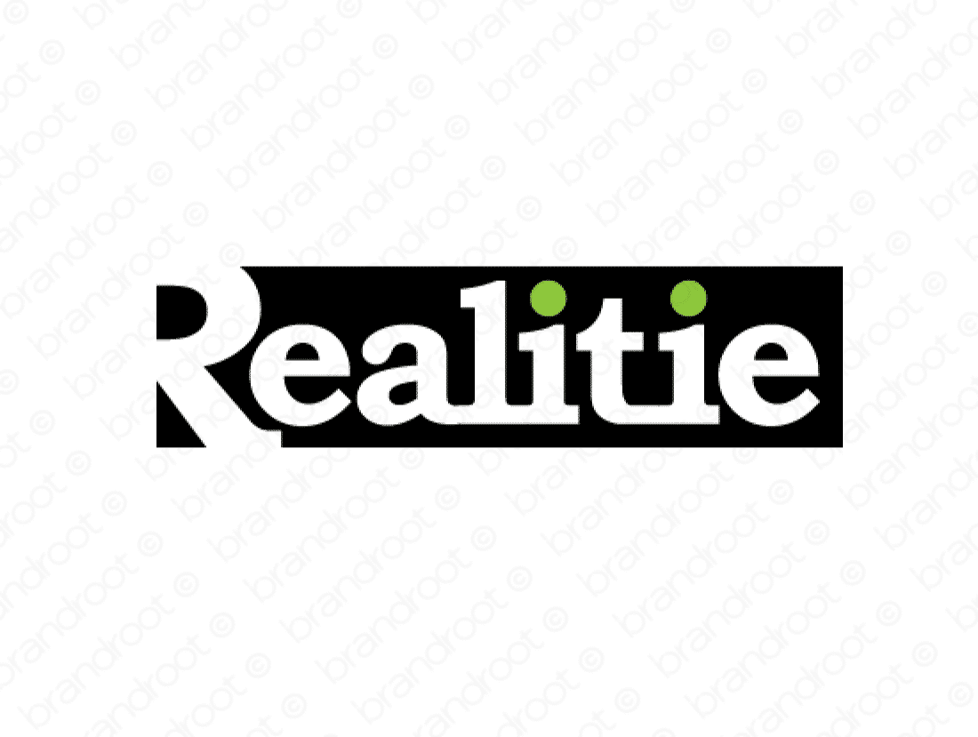 Realitie logo design included with business name and domain name, Realitie.com.
