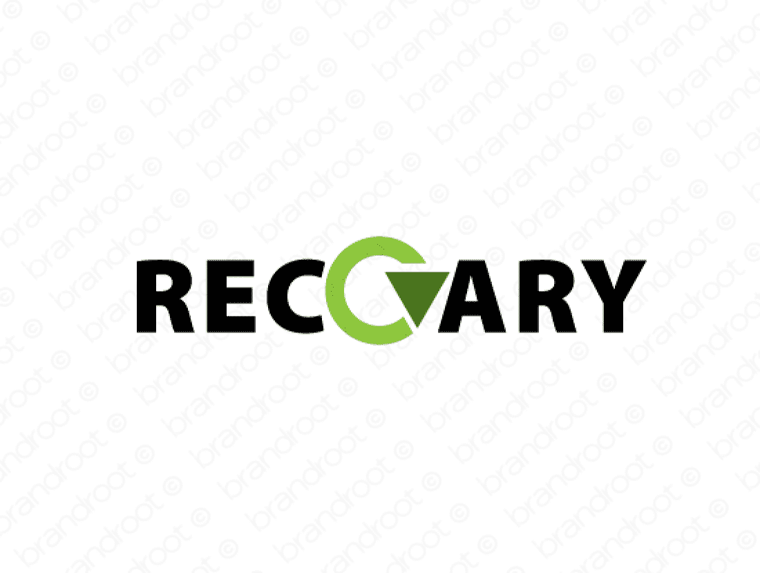 Recovary logo design included with business name and domain name, Recovary.com.