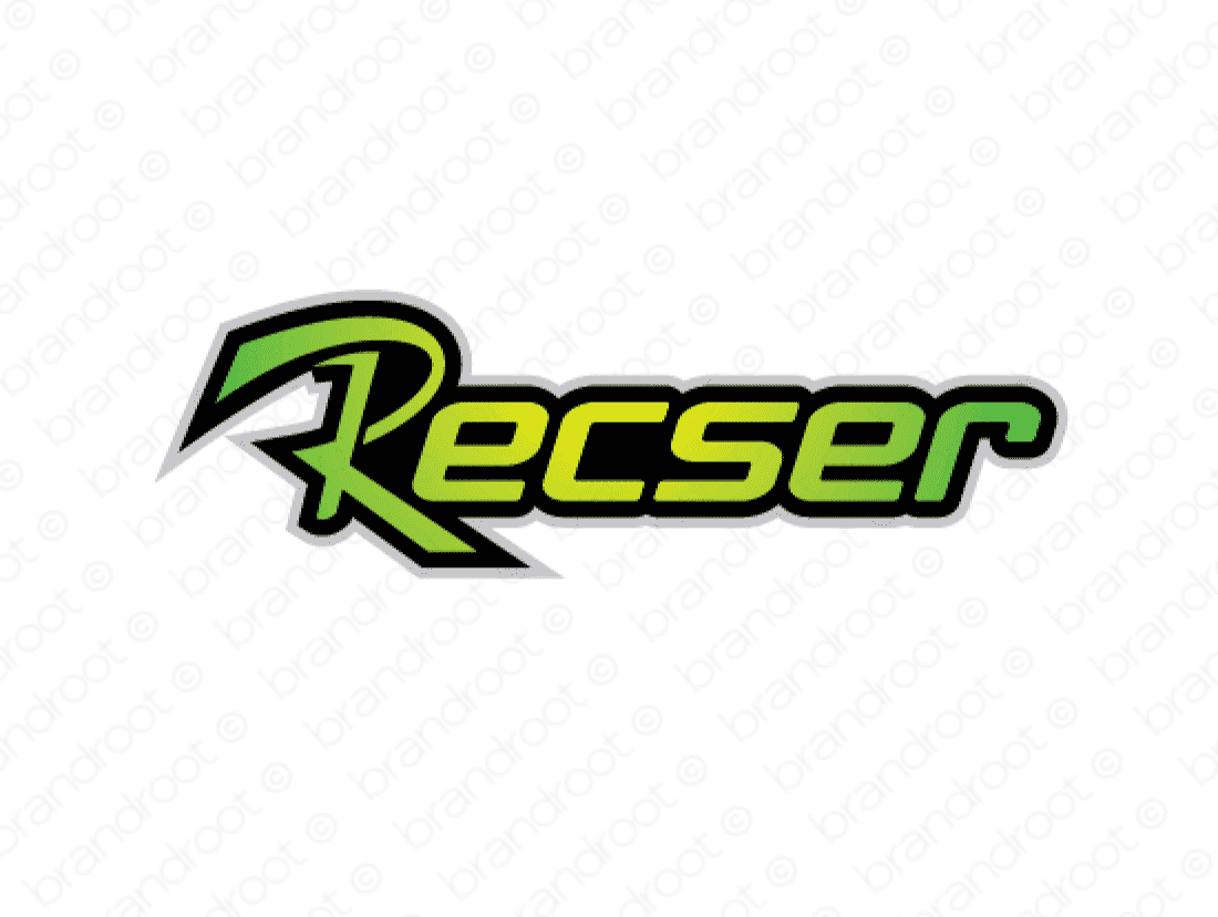 Recser logo design included with business name and domain name, Recser.com.