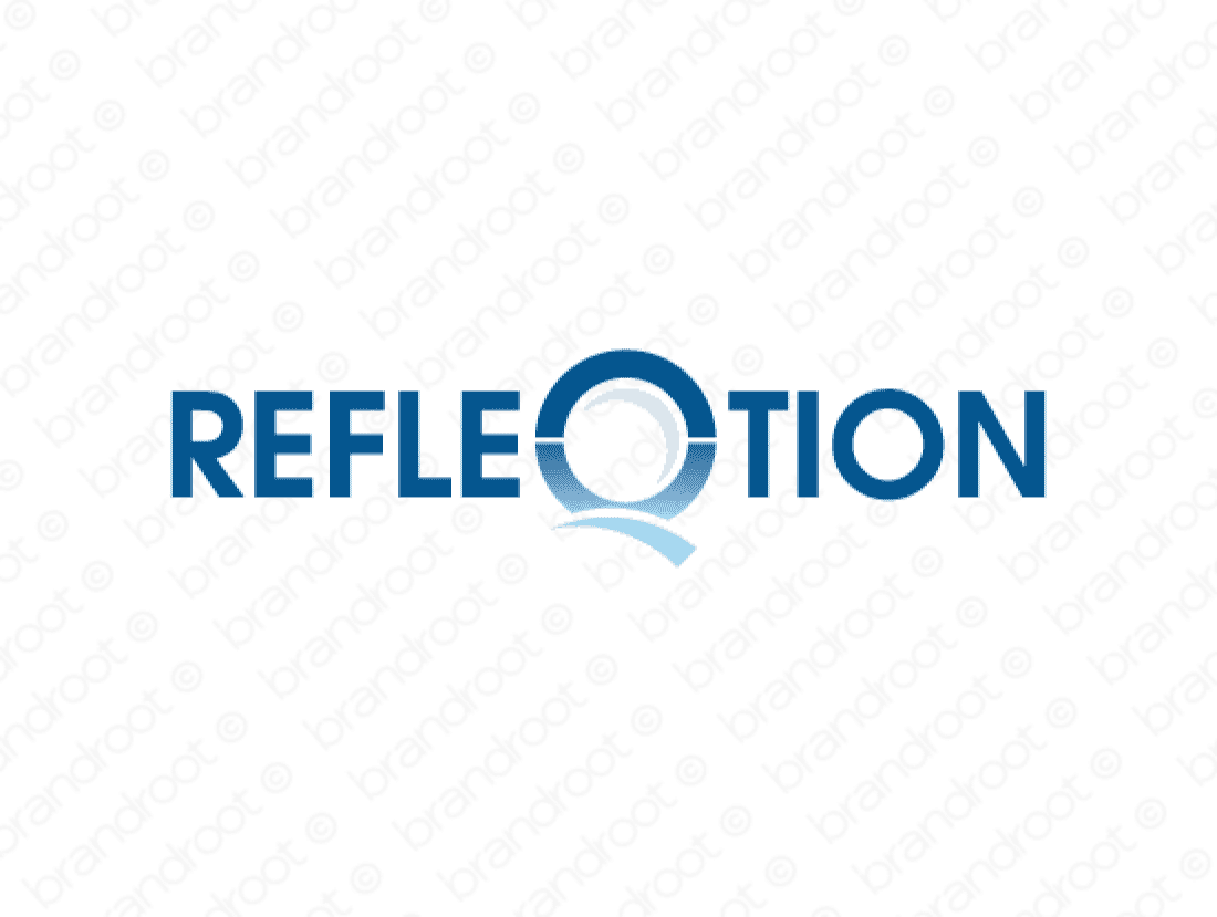 Refleqtion logo design included with business name and domain name, Refleqtion.com.