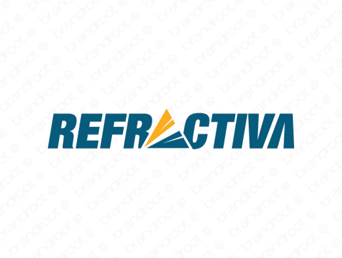 Refractiva logo design included with business name and domain name, Refractiva.com.