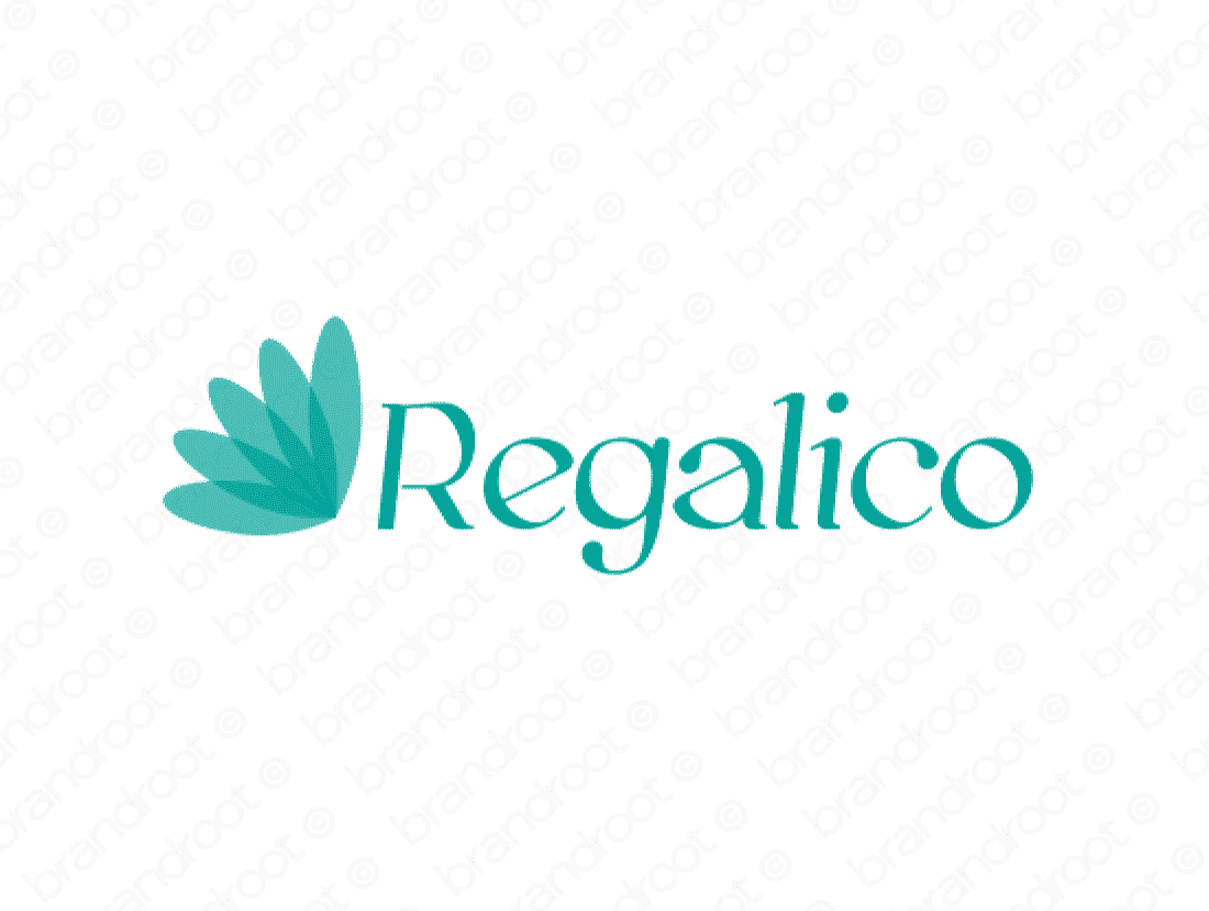 Regalico logo design included with business name and domain name, Regalico.com.
