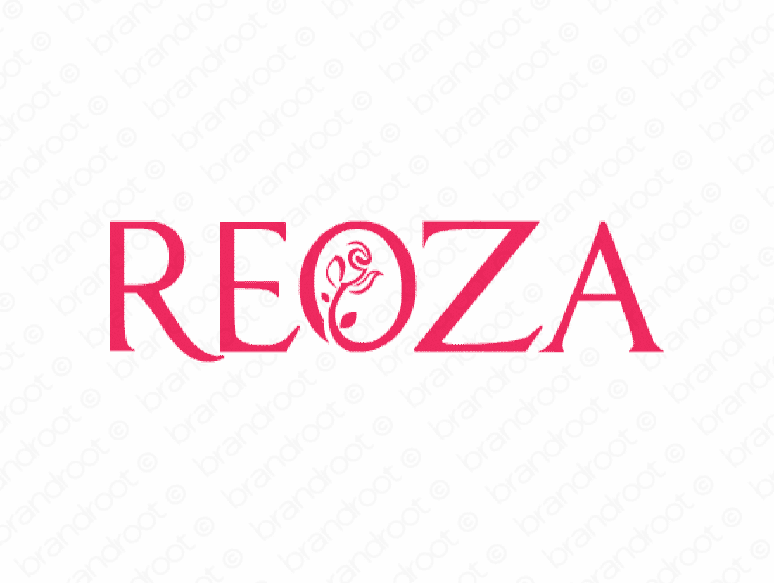 Reoza logo design included with business name and domain name, Reoza.com.