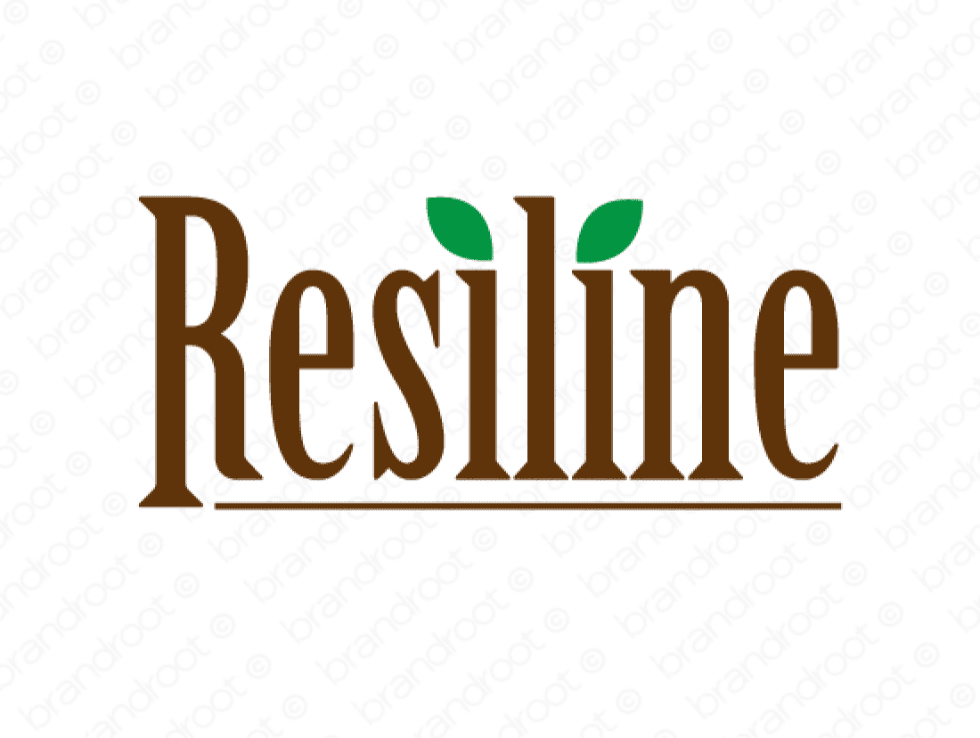 Resiline logo design included with business name and domain name, Resiline.com.