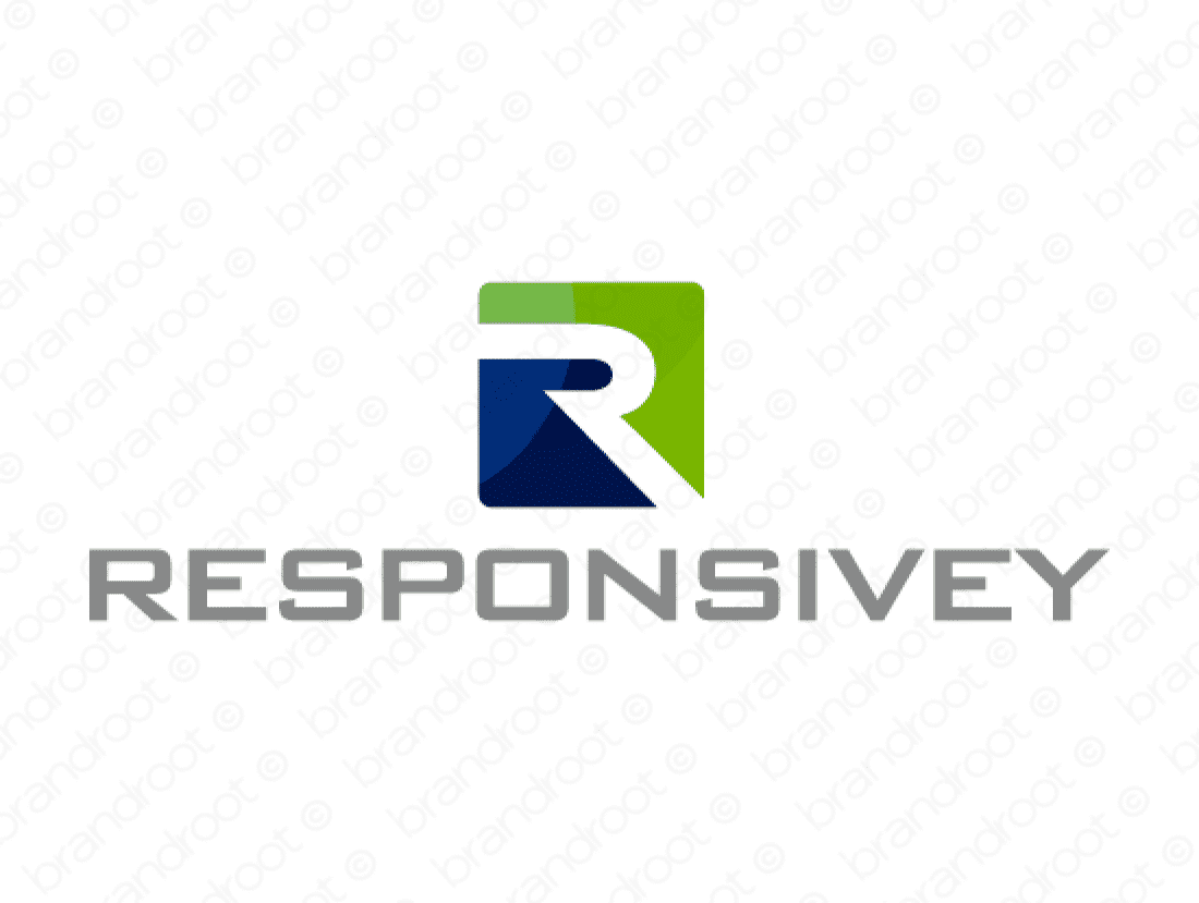 Responsivey logo design included with business name and domain name, Responsivey.com.