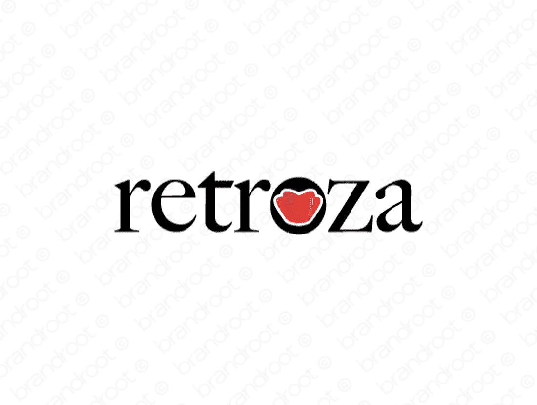Retroza logo design included with business name and domain name, Retroza.com.