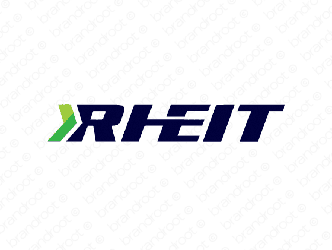 Rheit logo design included with business name and domain name, Rheit.com.