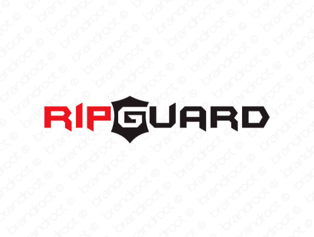 Ripguard logo design included with business name and domain name, Ripguard.com.