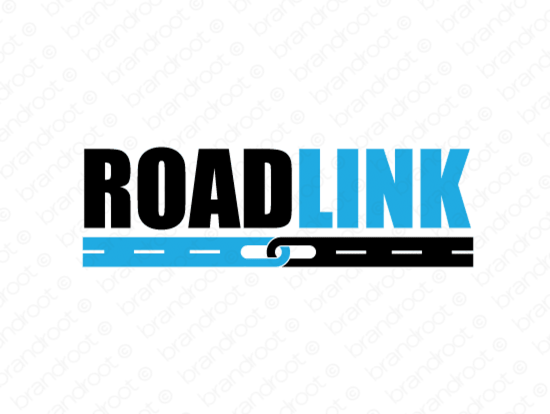 Roadlink logo design included with business name and domain name, Roadlink.com.
