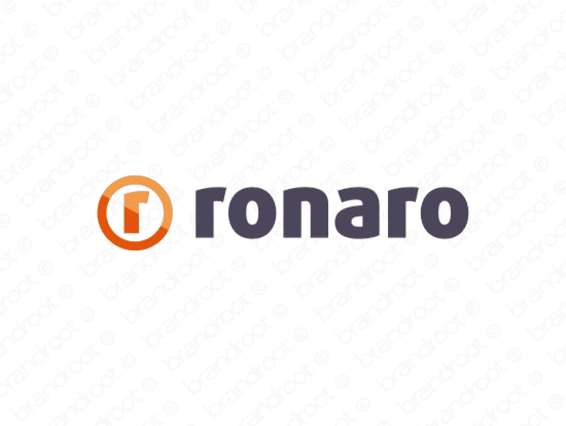 Ronaro logo design included with business name and domain name, Ronaro.com.