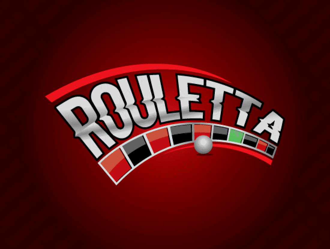Rouletta logo design included with business name and domain name, Rouletta.com.