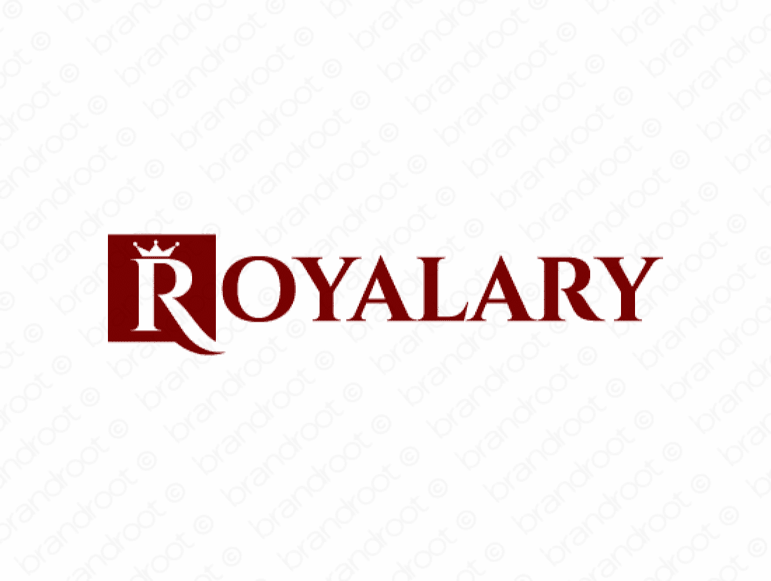 Royalary logo design included with business name and domain name, Royalary.com.