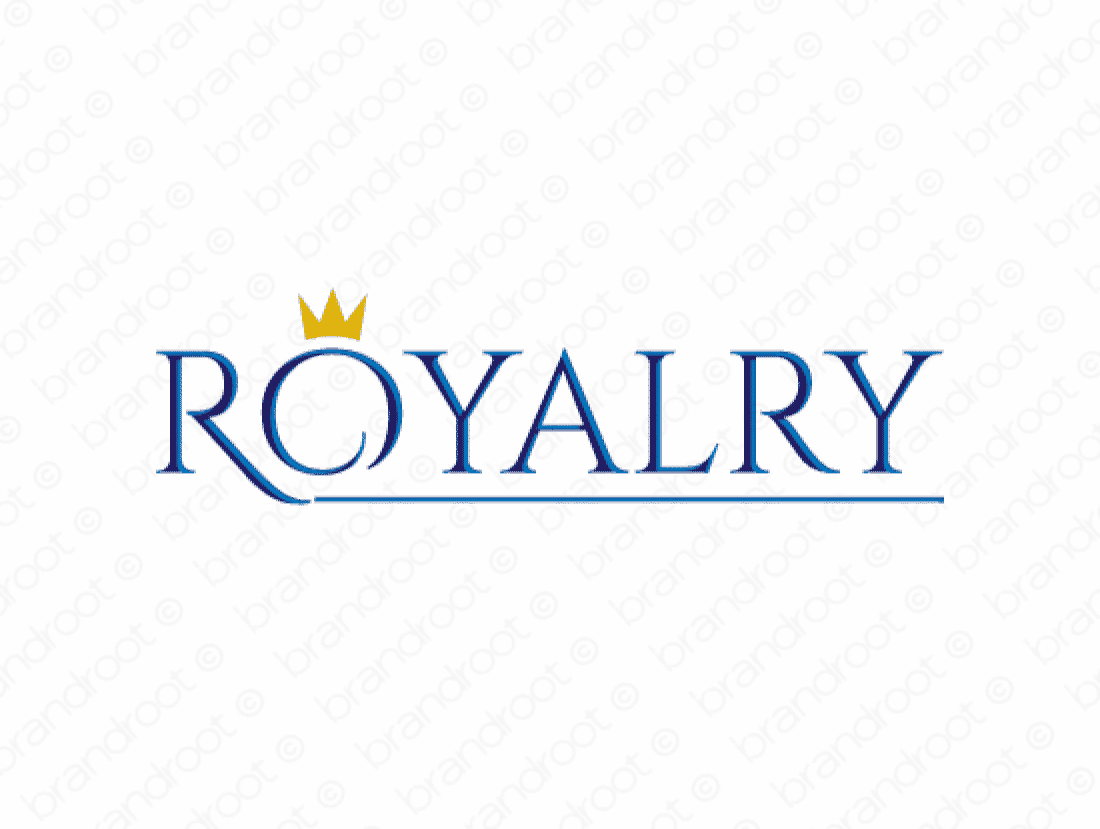 Royalry logo design included with business name and domain name, Royalry.com.