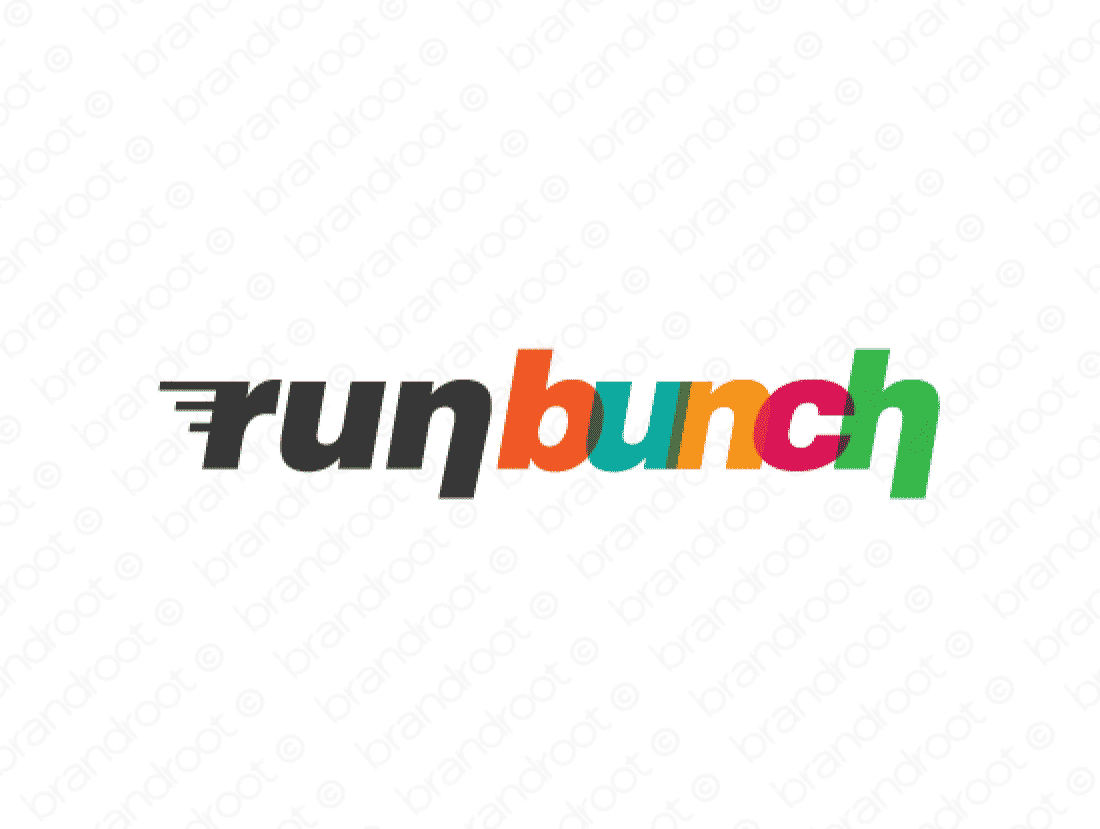 Runbunch logo design included with business name and domain name, Runbunch.com.