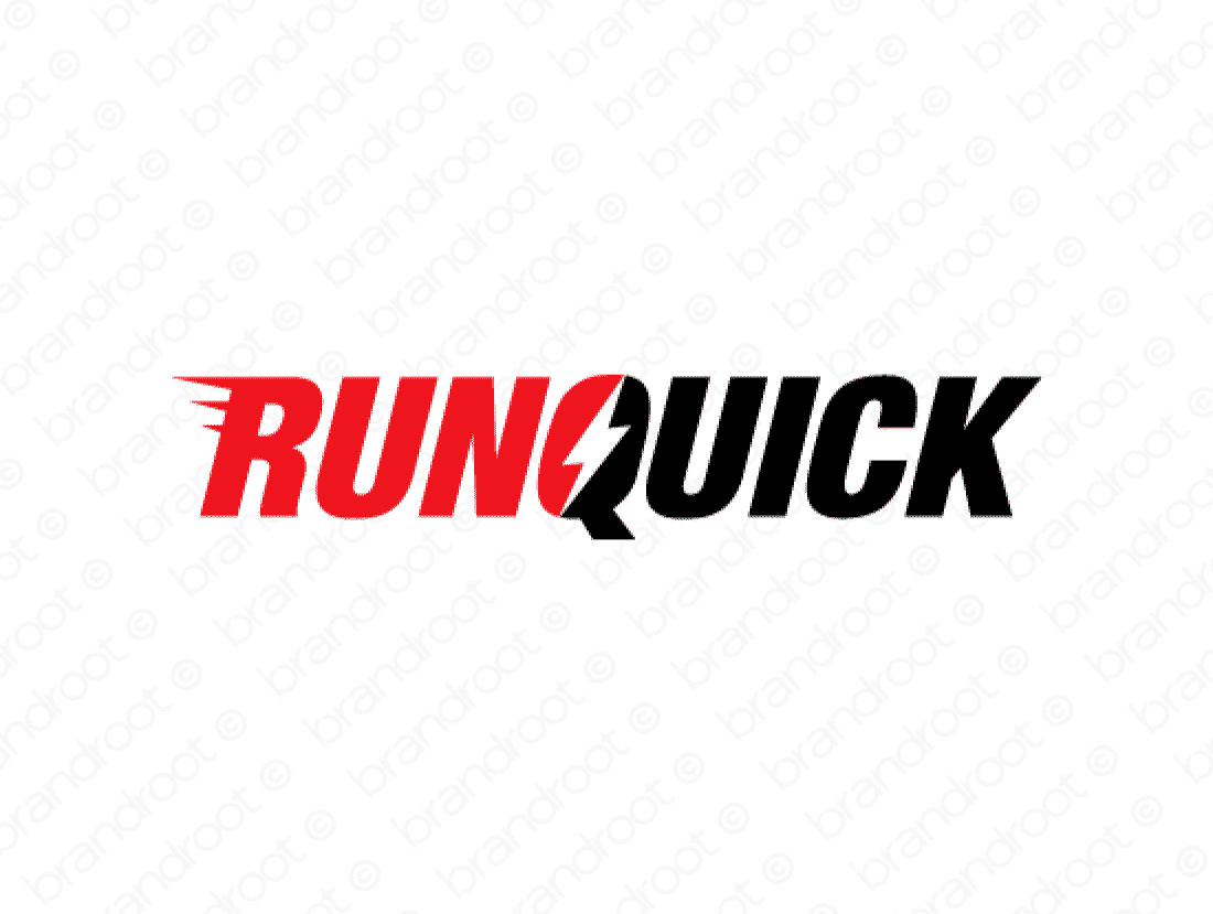 Runquick logo design included with business name and domain name, Runquick.com.