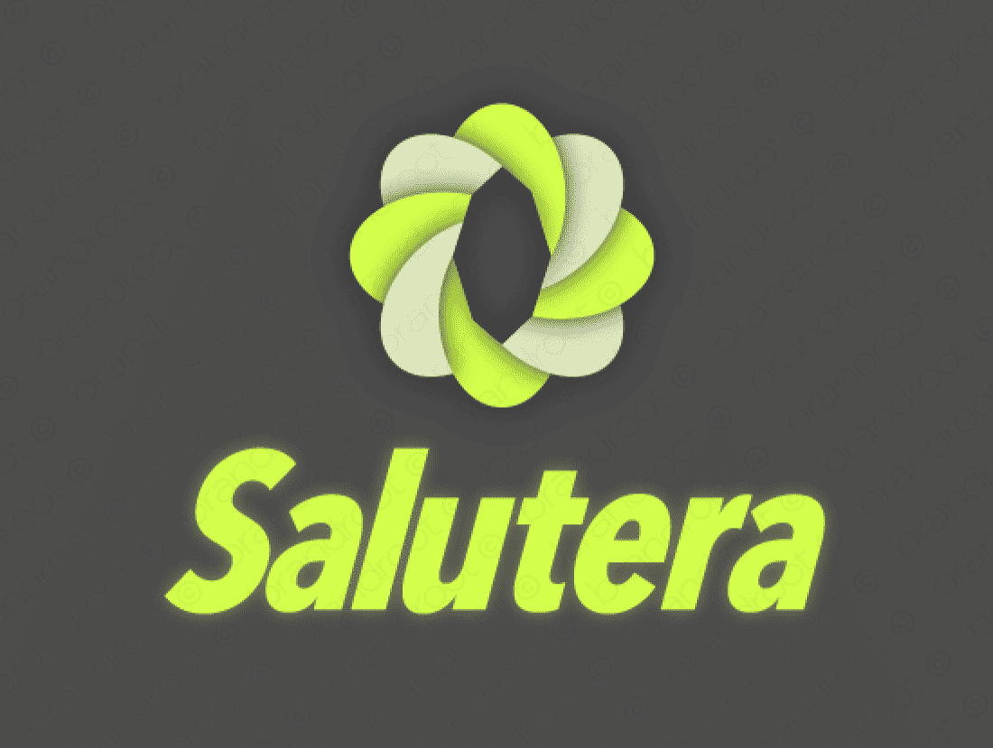 Salutera logo design included with business name and domain name, Salutera.com.